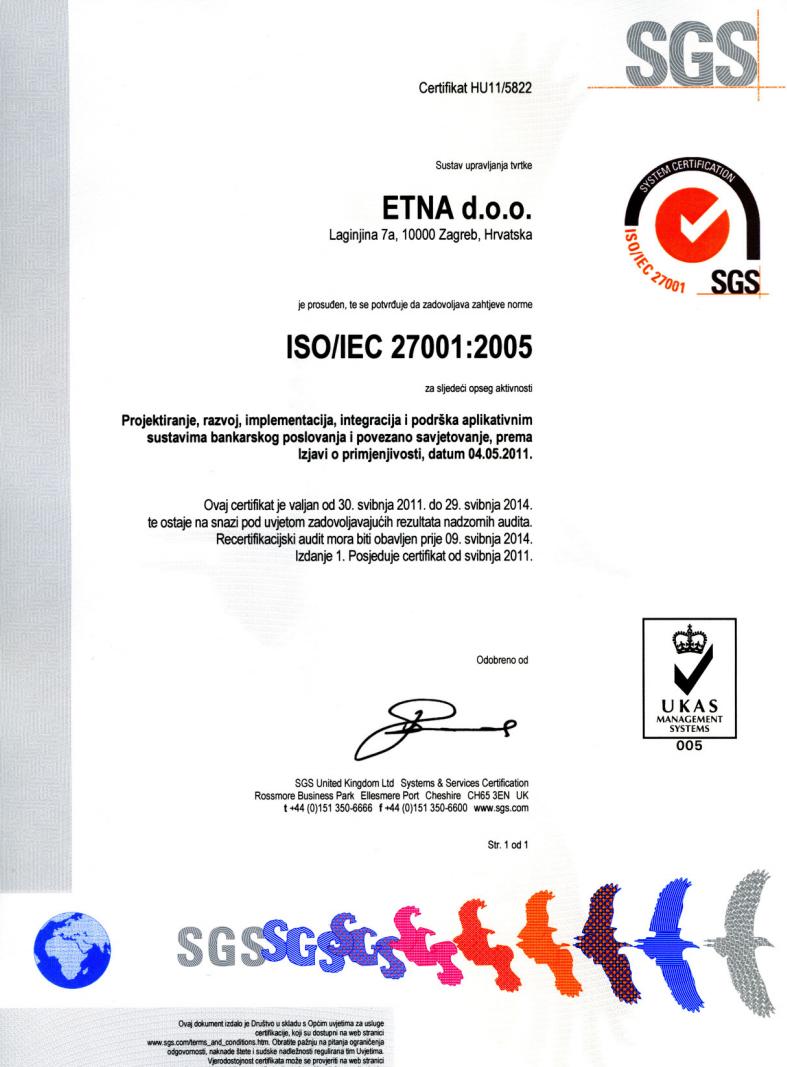 Naše kvalifikacije i certifikati | Etna