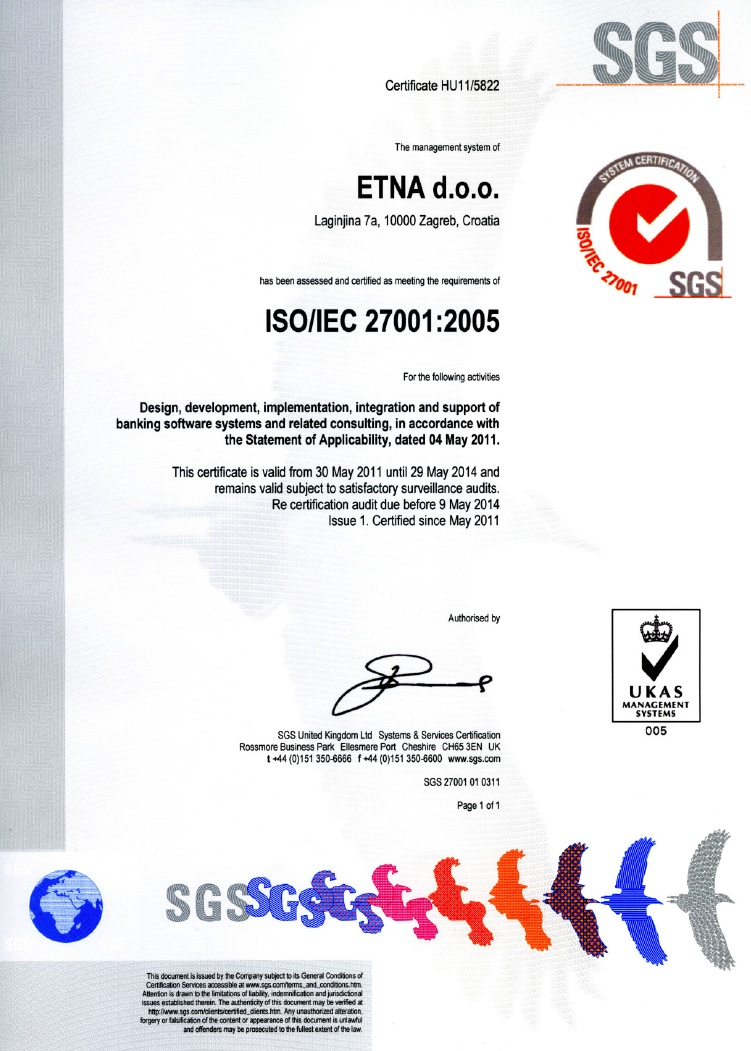 Qualifications And Certifications Etna